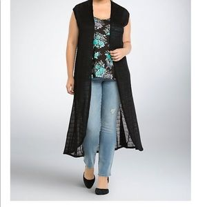 Torrid Open Front Duster Cardigan 2XL